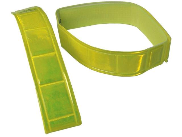 fasi Garter-signal color met klittenbandsluiting 1 paar, geel